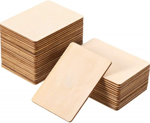 Boao Blank Wood Squares Unfinished Round Corner Square Wood Business Cards