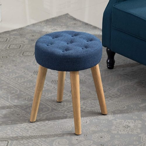4. Artechworks Thick Padded Round Footrest Stool Ottoman