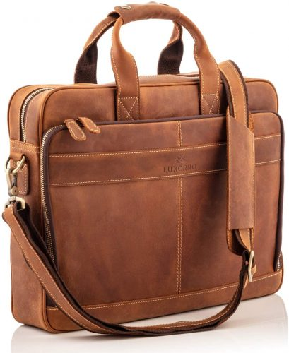 Luxorro Leather Laptop Briefcase
