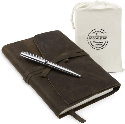 3. Refillable Leather Journal Gift Set - with Luxury Pen