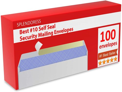 2. Mailing Envelopes Self Seal - #10 Security White Letter Businesses Envelopes