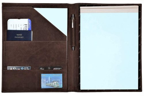 Rustic Town Leather Padfolio