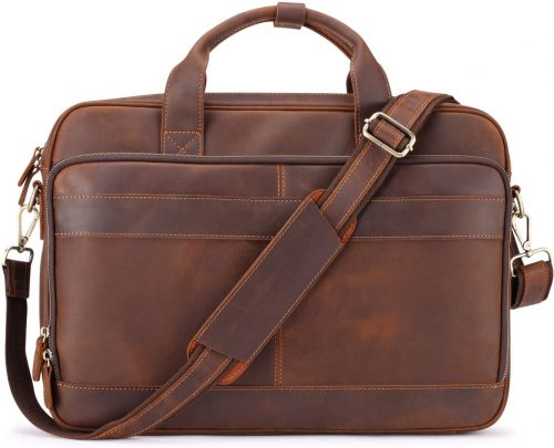Jack&Chris Men's Leather Briefcase