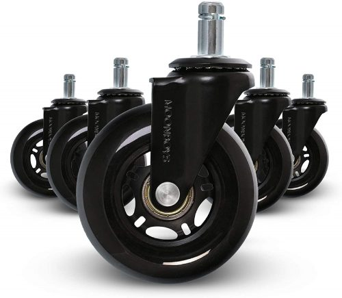 Office Chair Caster Wheels - Set of 5 Replacement Heavy Duty| Office Chair Wheels
