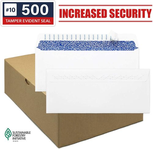9. Envelopes Self Seal - Security Envelopes #10 - Standard Size Business Envelopes