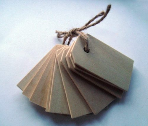 Wood Gift Tags/Blank Wooden Tags for Wine, Decor, Weddings (Pkg of 50)