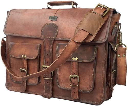 Cuero Vintage Leather Laptop Briefcase