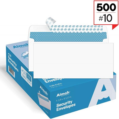 10. Security Self-Seal Envelopes, Windowless Design, Premium Security