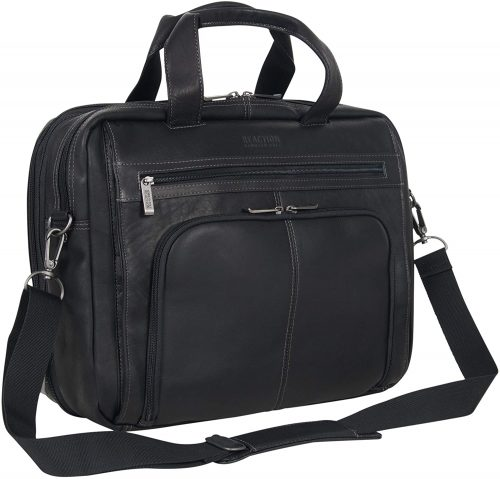 Kenneth Cole Reaction Leather Dual Compartment Laptop Briefcase