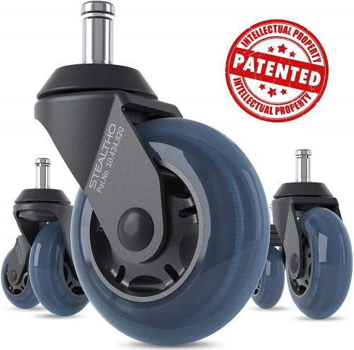 STEALTHO Replacement Office Chair Caster Wheels Set of 5 | Office Chair Wheels
