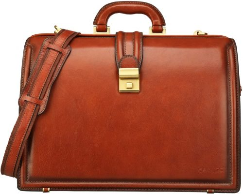Banuce Full Grains Italian Leather Lawyer Briefcases