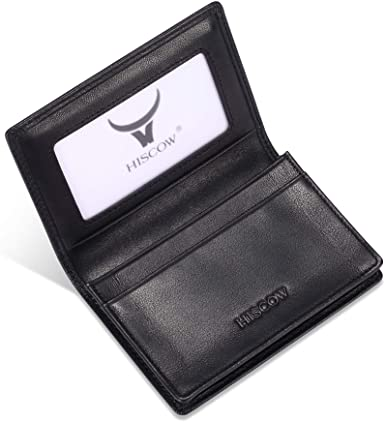 HISCOW Leather Business Card Case Holder