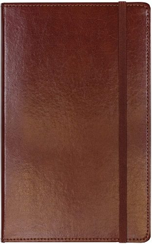 9. C.R. Gibson Brown Bonded Leather Journal, 5'' x 8.2''