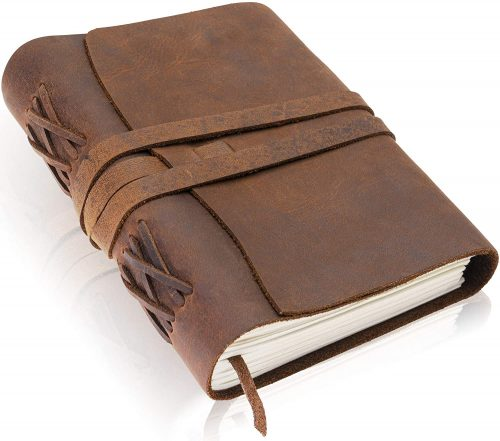 1.Premium Handmade Leather Journal by Scriveiner London