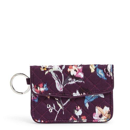 8. Vera Bradley Women's Signature Cotton Jen Zip Id Case Wallet