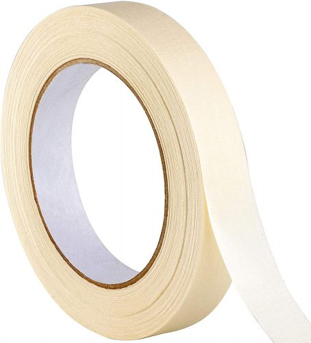 No-Residue 1 Inch, 60 Yard Masking Tape 1 Pk. Easy-Tear | Low Tack Masking Tape