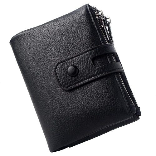 1. Small Leather Wallet for Women, RFID Blocking Women's Credit Card