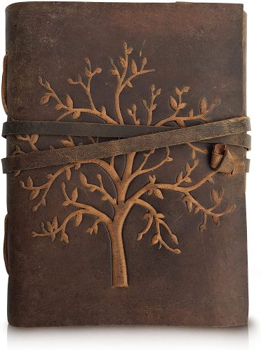 2. Leather Journal Tree of Life - Writing Notebook Handmade