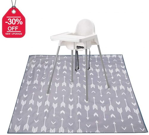 Splat Mat for Under High Chair/Arts/Crafts, Washable Spill  - Waterproof Carpet