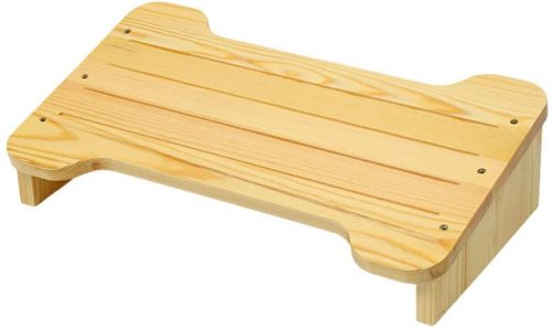 MNSSRNN Solid Wood Pedals - Desk Foot Rest
