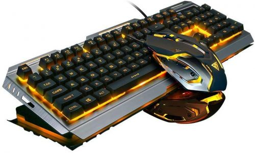 Wired Gaming Keyboard Orange - Gaming Keyboard & Mouse Combo