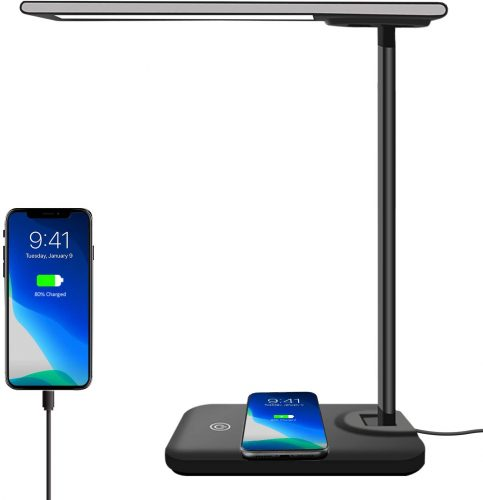 AOBISI LED Desk Lamp with Wireless Charger - Unique Desk Accessories