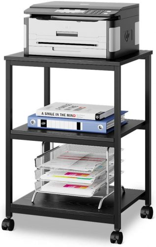 DEVAISE Mobile 3-Shelf Printer Cart - Portable Laptop Desk