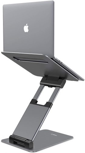 Nulaxy Laptop Stand, Ergonomic Sit - Laptop Table Stand