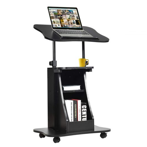 Tangkula Standing Desk Mobile Lectern - Portable Laptop Desk