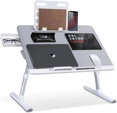 Laptop Bed Tray Desk, SAIJI Adjustable - Laptop Stand For Bed