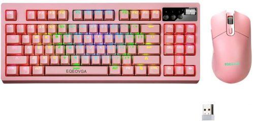 EQEOVGA K51 RGB- Wireless Gaming Keyboard & Mouse Combo
