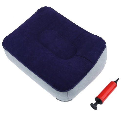 Foot Rest Pillow, Flocking Soft Travel Leg Up- Office Foot Rest