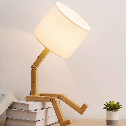 HAITRAL Bedroom Table Lamp - Unique Desk Accessories