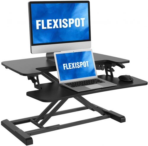 FLEXISPOT Stand Up Desk Converter 28 Inches - Portable Laptop Desk