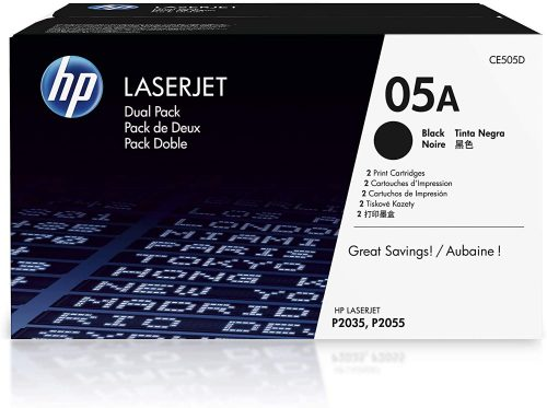 HP 05A | CE505D | 2 Toner Cartridges | Black | Toner Cartridge