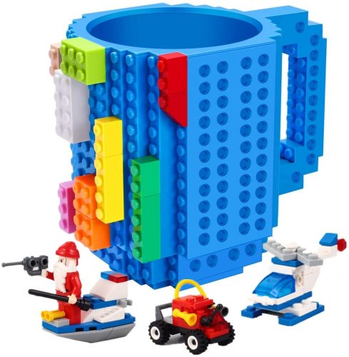 Build-on Brick Mug,with 3 packs of Blocks- Unique Coffee Mug