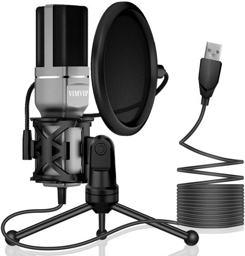 VIMVIP USB Condenser | Microphone For Recording Vocals On Computer