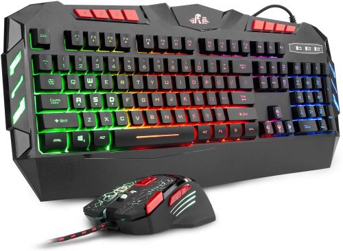 Rii RGB LED Backlight Wired - Gaming Keyboard & Mouse Combo