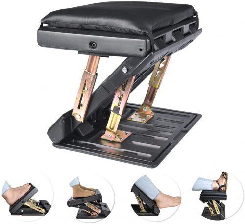 Adjustable Footrest with Removable Soft- Desk Foot Rest