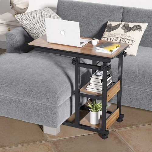 Tribesigns C Table Sofa Side End Table - Laptop Table For Couch