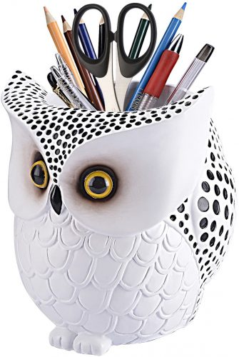 LYASI Owl Pen Holder, Owl Pen Pencil - Unique Desk Accessories