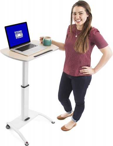 Stand Steady Multifunctional Mobile Podium - Laptop Table For Couch