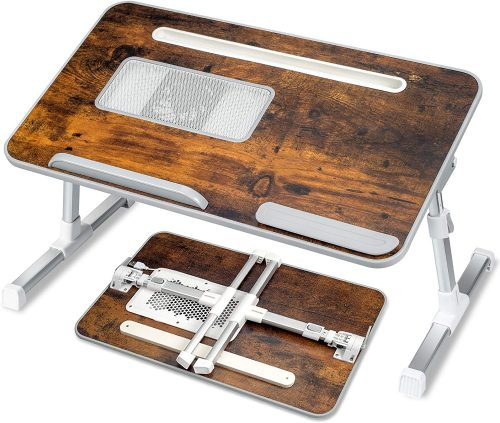Adjustable Laptop Bed Tray Desk - Laptop Table For Bed