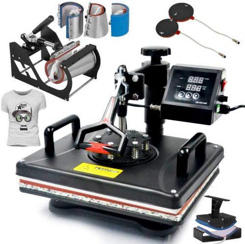 8 in 1 Heat Press Machine 12 X 15 Inch Vinyl| Heat Transfer Printer