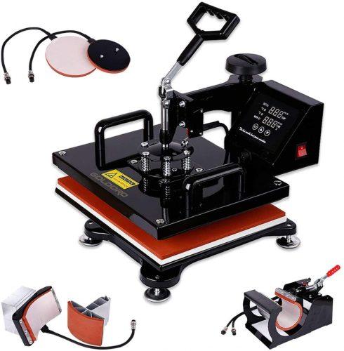 GOLDORO 5 in 1 Heat Press Machine| Heat Transfer Printer