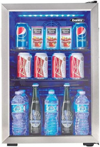 Danby DBC026A1BSSDB 95 Can Beverage Refrigerator| Beverage Cooler