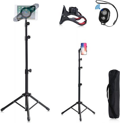 T-SIGN IPad Tripod Tablet Stand, Reinforced Mount Foldable Floor | IPAD Stand Holder