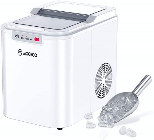 MOOSOO Ice Maker for Countertop, 9 Ice Cubes| Ice Maker