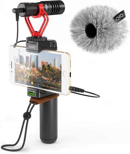 Movo Smartphone Video Rig with Shotgun Microphone   Shotgun Mic
