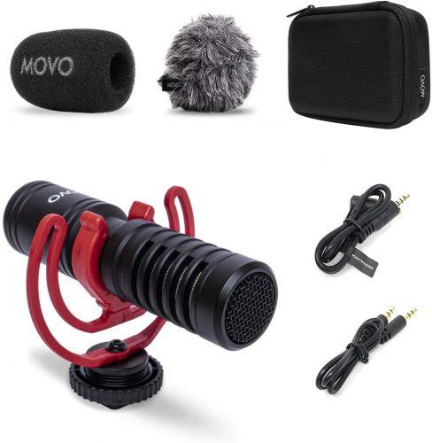 Movo VXR10-PRO External Video Microphone for Camera  Shotgun Mic